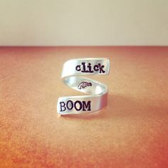 Click Boom Hamilton Adjustable Wrap Ring Harry Potter Inspired Hand Stamped Handmade