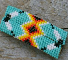 navajo bead designs. Native American Jewelry Navajo) Beaded Barettes # T-39 This Is A Pair Of Navajo Bead Designs J