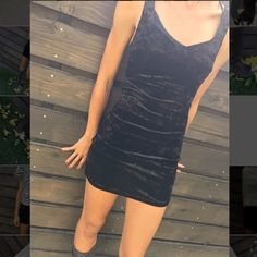 Cheap Monday Crushed Velvet Dress Cute little black dress with lots of stretch .. Can be worn with leggings ..boots and a chunky sweater or pair it up with a fitted denim jacket and cute scarf!! Selling for a friend .. No pay pal no trades!!! Cheap Monday Dresses