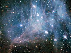 NASA Satellites: Hubble Peeks inside a Stellar Cloud