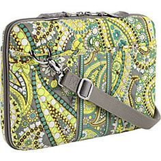 Mini laptop/iPad case, by Vera Bradley; I have one of these in Paprika for my Nook...works perfect for Nooks and Kindles as well!