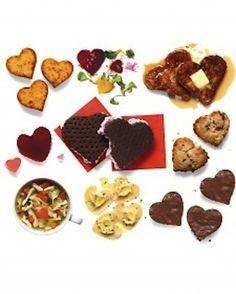 heart shaped snacks for school