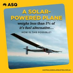 The Solar Impulse 2 will be the first plane to travel around the world run entirely on clean energy. Learn more about this awesome feat here: