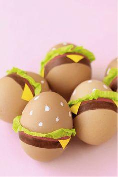 Pâques : les plus jolis oeufs du web ! sur @decocrush - www.decocrush.fr #snack #burger #foodcrush