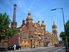 The baths and public library on Moseley Road, Balsall Heath, Birmingham, England. Photographed by me. Travel Around The World, Around The Worlds, Birmingham England, Interesting Buildings, West Midlands, Old Buildings, Barcelona Cathedral, United Kingdom, Castle