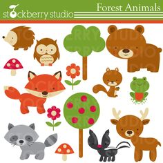 woodland animal printables for kids | Forest Animals Clipart