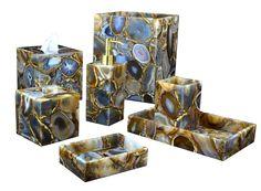 Taj Agate Bath Accessories | Gracious Style