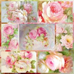 ALL PINK ROSES COLLAGE by Enchanted Rose Studio, via Flickr