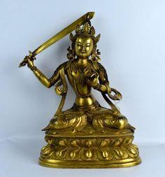 Large Tibet Antique Gilt Bronze Buddha w Sword Lot 113 EST Price: USD 4,000 - 6,000 Start Price: USD 2,000 Tibet, The Collector, Sword, Buddha, Tea Pots, Jade, Auction, Tea Pot, Swords