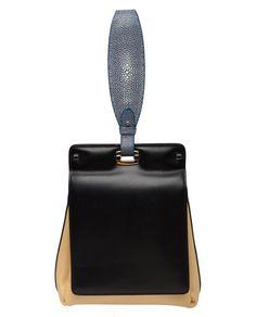 BALENCIAGA   '5-7' two tone leather and stingray bag