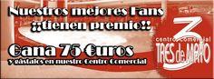 ¡¡NUESTROS MEJORES FANS TIENEN PREMIO!!   PULSA AQUÍ PARA PARTICIPAR: https://www.facebook.com/pages/Centro-Comercial-3-de-Mayo/90187611053?sk=app_417934594954562  ¡¡LOS 3 CONCURSANTES QUE MÁS FANS RECLUTEN, GANARÁN 1 BONO REGALO EQUIVALENTE A 75€ DE IMPORTE ( 1 BONO PARA CADA GANADOR ), PARA CONSUMIR EN LAS TIENDAS DEL CENTRO COMERCIAL 3 DE MAYO!!  ¡¡¡¡MUCHA SUERTE!!!!!   EVENTO: https://www.facebook.com/events/229531247206160/