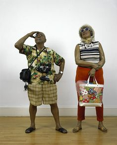 The tourists - Hyper realistic Sculpture by Duane Hanson Art Gallery, Gallery Of Modern Art, Galerie D'art Moderne, Fondation Cartier, George Segal, National Portrait Gallery, Online Collections, Poses, New Artists