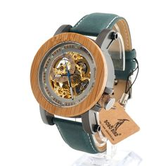 59.40$  Watch here - http://aliikh.worldwells.pw/go.php?t=32775891023 - BOBO BIRD K13 Top Brand Luxury Automatic mechanical Casual Watch Men Skeleton Bamboo Wooden With Steeling In Wooden Gift Box 59.40$