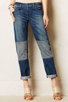 Anthropologie Pilcro Hyphen Patched Jeans Size 8   29 X 27 d87628eb0bda