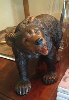 Black Forest bear. Swiss- circa 1880 Alpenholz Antiques