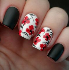 Color is very important in any visual designs, so is nail art. Discover top 100 white nail art designs that are actually easy! Flower Nail Designs, Best Nail Art Designs, Flower Nail Art, Trendy Nail Art, Cool Nail Art, Hair And Nails, My Nails, Manicure E Pedicure, Nagel Gel