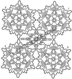 ВСЕ В АЖУРЕ. Вязание Crochet Snowflake Pattern, Crochet Square Patterns, Crochet Doily Patterns, Crochet Snowflakes, Crochet Blocks, Crochet Diagram, Crochet Chart, Crochet Squares, Crochet Doilies