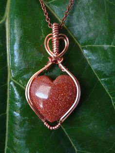 heart pendant valentines necklace copper pendant Red Moss Agate wire wrapped pendant necklace gemstone jewelry crystal pendant