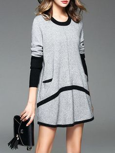 Casual black and gray dress