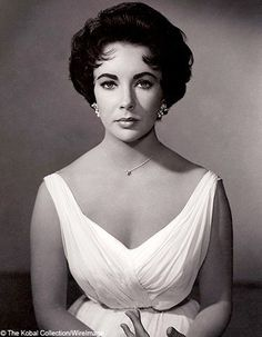 Elizabeth Taylor as Maggie, the cat.  One of my favorite movies and she is just beautiful.  Paul Newman ain't bad either!