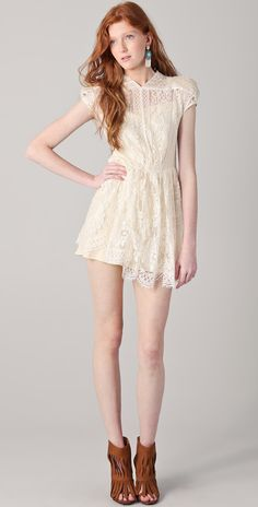 Lover Wiccan lace mini dress - Polyvore