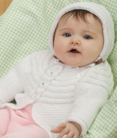 Baby Jacket and Bonnet Knitting Pattern | Red Heart