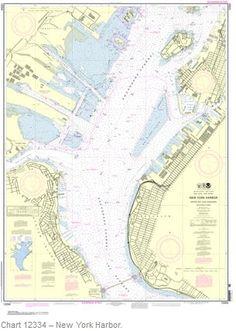 Updated New York harbor nautical chart provides post-Sandy updates