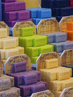 Soap Savons de marseille and their various fragrances