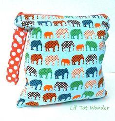 Wet Bag Urban Elephants by LilTotWonder on Etsy, $15.00