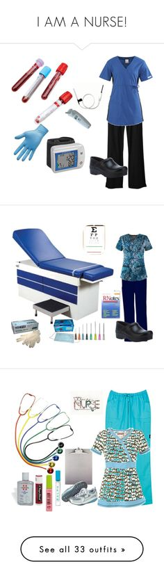 """""""I AM A NURSE!"""" by thegirlof1983 ❤ liked on Polyvore featuring Cherokee, Lab, Dansko, women's clothing, women's fashion, women, female, woman, misses and juniors"""