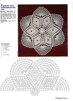 Gráfico Tapete com Semicírculos - Amo Fazer Crochê