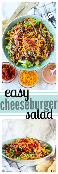 The Summer Season With A Tasty Twist On An American Classic Serve Up An Easy Cheeseburger Salad For Barbecues Or Potlucks.Celebrate The Summer Season With A Tasty Twist On An American Classic Serve Up An Easy Cheeseburger Salad For Barbecues Or Potlucks. Pasta Salad Recipes, Healthy Salad Recipes, Potluck Dishes, Food Dishes, Easy Salads, Summer Salads, Soup And Salad, Tortellini, Easy Dinner Recipes