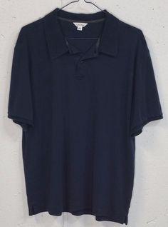 CK Calvin Klein Mens Slate Blue 100% Cotton Short Sleeve Polo Shirt Large L #CalvinKlein #PoloRugby