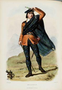 Clan Coquhon Scottish Highlander  by RosiesVintagePrints on Etsy