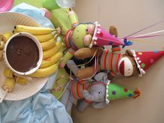 Banana-on-a-stick Chocolate Dippers! - Sock Monkey Birthday Party