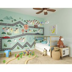 Brewster 118 in. x 98 in. Mini Adventure Wall Mural