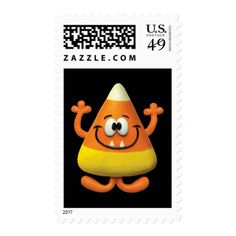 Candy Corn Monster Postage