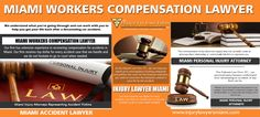 Our Website: http://www.injurylawyersmiami.com/ Office injuries can not be eliminated entirely in course of performing your task. When these work associated injuries occur you require the assistance of a Miami Workers Compensation Lawyer. Nevertheless, some tasks are more vulnerable to work environment injuries compared to others and also such works include mining, oil and also natural gas manufacturing and also most infamously in construction websites.