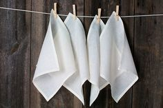 LINEN Cloth Napkin  OFF WHITE not dyed  pure linen by LinumStudio, $50.00