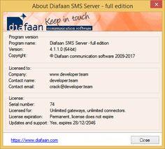 Diafaan SMS Server 4.1.1.0 Full Edition Retail