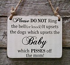 Baby Sleeping Sign - Do Not Disturb Dogs Bark - Baby Shower Gift - Baby Sleeping Front Door Sign, http://www.amazon.ca/dp/B01FTAODVM/ref=cm_sw_r_pi_awdl_M9TvxbBHA93K7