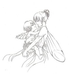 Fairy+Drawings | Fairy Mom and her baby by ~Celestyal on deviantART