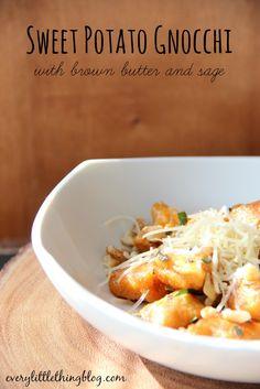 Sweet Potato Gnocchi | everylittlethingblog.com