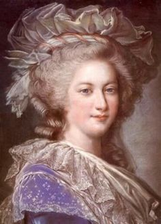 Marie Antoinette in purple and lace