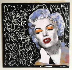 Marilyn Monroe マリリンモンローオリジナル french artist pur_画像1