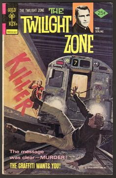 Cover for The Twilight Zone (Western, 1962 series) [Gold Key Variant] Sci Fi Comics, Horror Comics, Horror Posters, Book Cover Art, Comic Book Covers, Book Art, Classic Comics, Classic Tv, Comic Book Characters