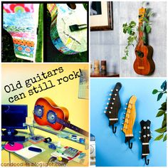 ReFab Diaries: Repurpose: Old Guitars can still Rock!  Although I don't think I'd do this to a guitar it's still cool