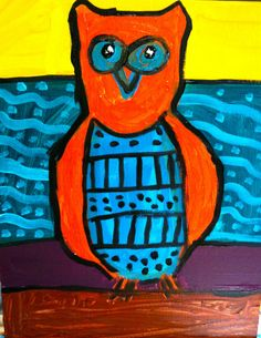 Sleepyhead Designs Studio: Painting Owls Folk Art Style