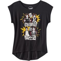 Girls 7-16 5 Seconds of Summer High-Low T-Shirt ❤ liked on Polyvore featuring tops, shirts and t-shirts