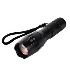 Ultra Bright Outdoor Flashlight - This is not your everyday flashlight - this is flashlight for grown-ups. Ultra powerful light, super durable and resistant to pretty much everything. If you need a strong flashlight you can rely on - this is it. Torch Light, 18650 Battery, Hiking Gear, Black Models, Strobing, Led Flashlight, Aluminium Alloy, Bright, Backpacking